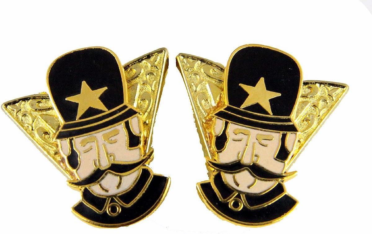 6030634 Set of 2 Shrine Bobby Unit Collar Tabs Policemen Shriner Tips