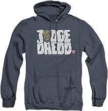 Trevco Judge Dredd Logo Unisex Adult Pull-Over Heather Hoodie