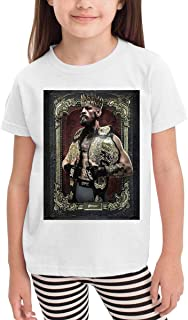 Kid Print Design with Conor McGregor 'King Two Titles' Fashion T Shirt for Boy's&Girl's Short Sleeve White