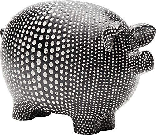 Kare Design Spardose Art Pig, lustige Spardose in Schwein Form, Schwarze Spardose Gepunktet, verschiedene Ausführungen erhältlich (H/B/T) 14x20x8,9cm