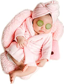 Fashion Cute Newborn Boy Girl Baby Costume Outfits Photography Props Bathrobe Belt Coat Sets