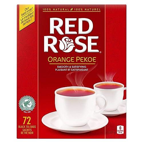 Red Rose Orange Pekoe Tea Bags 72 Count