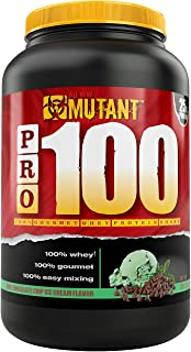 Mutant Pro 100 – A 100% Whey Protein Shake with No Hidden Ingredients – Comes in Delicious Gourmet Flavors – 908 g – Mint Chocolate Chip Ice Cream