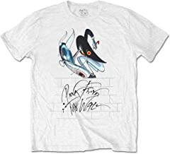 Pink Floyd Men's The Wall Teacher Slim Fit T-Shirt White