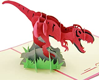 Claiery Jurassic Period Dinosaur 3D Pop-up Greeting Card for Kids Birthday Card Holiday Card, Spring Card
