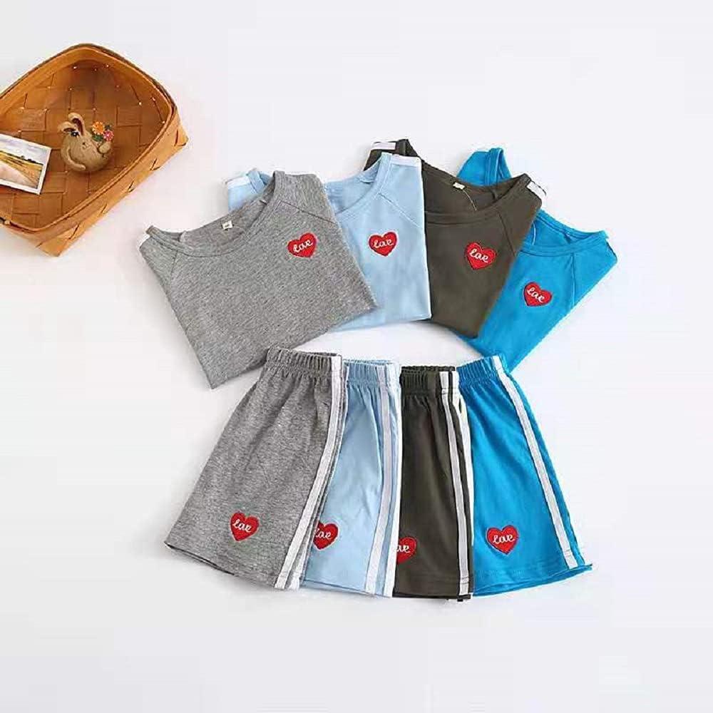 lollipopbear Children's Short-Sleeved Shorts Set with Lacing Edges