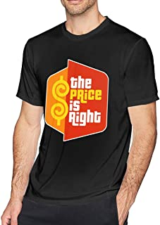 Men's Casual The Price is Right Tee T Shirt Short Sleeve O-Neck Cotton T-Shirt Sports Tops for Teens Plus Size Shirt