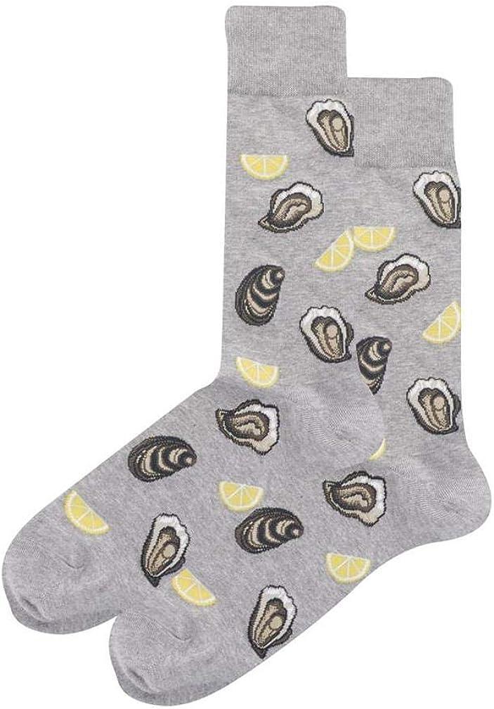 Hotsox Men's Oysters Crew Socks 1 Pair, Men's 10-13