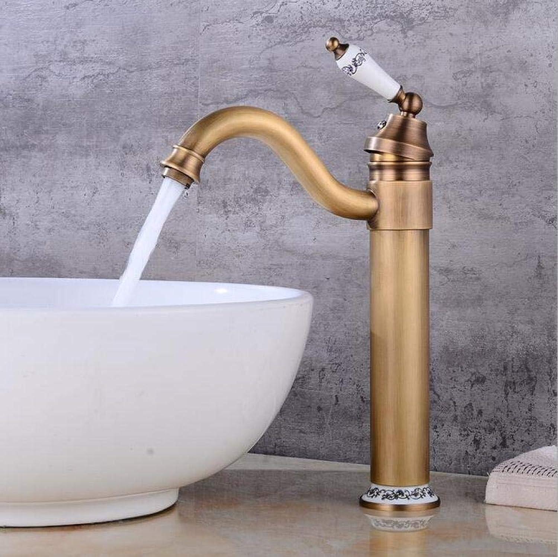 Badezimmer Küche Warmes Und Kaltes Wasser Drehender Bassinhahnantike Hei Und Kalt über Gegenbassinhahn Retro- Badezimmerwaschbeckenhahn