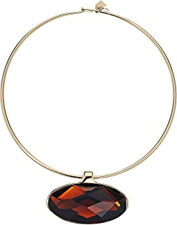 Robert Lee Morris Topaz and Gold Round Wire Necklace