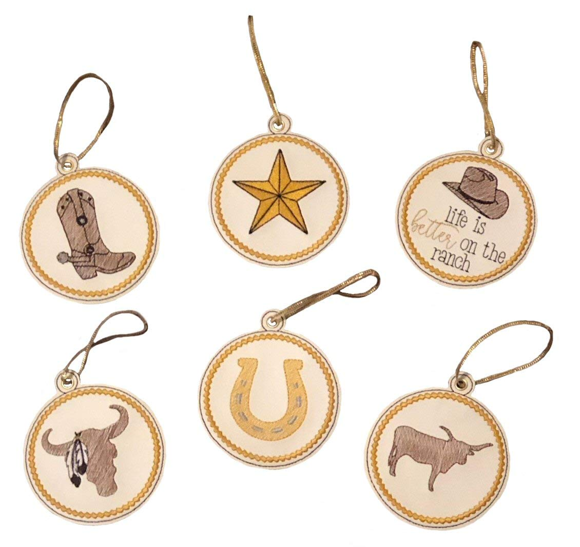 Cowboy Free Shipping New Ranch Ornament 6 of wholesale Set