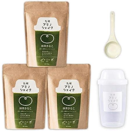 九州アミノシェイク ソフトプロテイン 300g 植物性原料100% 九州産 モリンガ きな粉 ソイプロテイン (抹茶きな粉味 3袋) 大豆たんぱく質