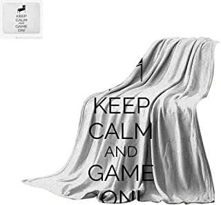Luoiaax Keep Calm Super Soft Lightweight Blanket Pinball Machine Arcade Room Concept Keep Calm and Game On Fun Entertainment Custom Design Cozy Flannel Blanket 50