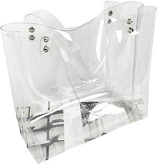 Damenhandtasche Handtasche Durchsichtig Transparent Mandoline Weiß Neu