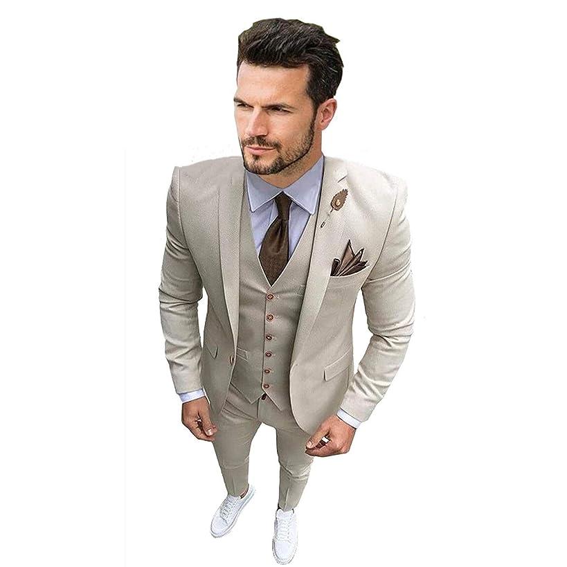 Men's Suit 3 Pieces Suit for Men Slim Fit Suit Blazer Jacket Vest Pants Wedding Tuxedo for Groom