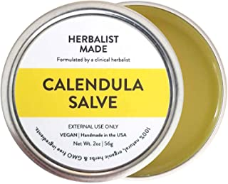 Calendula Salve, Organic Ingredients - Vegan Balm 2oz, Herbalist Made