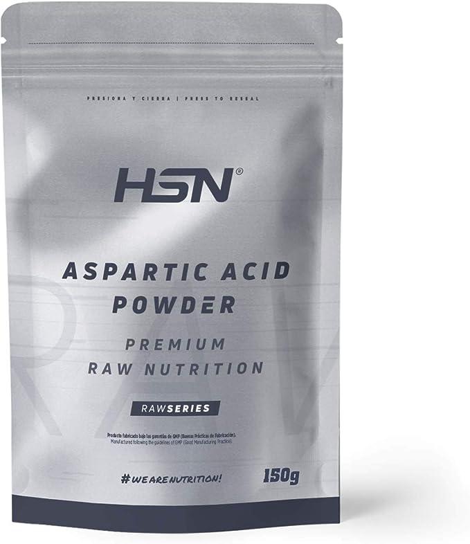 HSN Ácido Aspártico Estimulador de la Testosterona | Favorece el Desarrollo de Masa Muscular | Aumento de Fuerza y Potencia y Resistencia | Vegano, ...