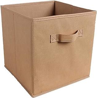 N / A 2020 Nouveau Cube Pliant Non-tissé Boîte De Rangement en Tissu Pliable Tissu De Stockage Cube Panier Bacs Jouets Org...