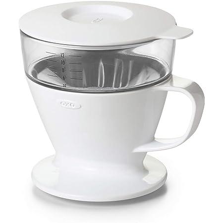 OXO 湯量は自動でドリップスピード調整 オートドリップ コーヒーメーカー 1~2杯 360ml ホワイト
