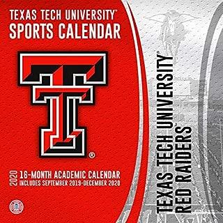 Texas Tech University Red Raiders 2020 Calendar