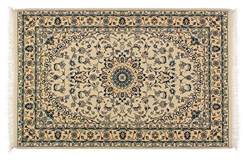 Lifetex.eu Tapis Oriental de Haute qualité 100 x 150 cm - Fabriqué en Machine - Polyamide - Beige - LT12623