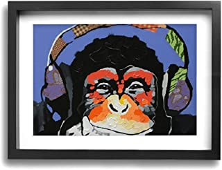 e8af0ca7c6fd Amazon.com: monkey - music - Black / Wall Art: Home & Kitchen