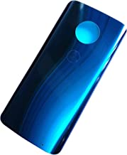 Ubrokeifixit Compatible Housing Rear Glass Back Door Cover Replacement/Glue Tape for Motorola Moto G6 Plus XT1926-7 XT1926-5 XT1926-8 XT1926-6 5.9
