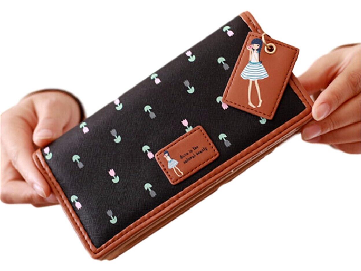 排除する風邪をひく礼儀Youchan(ヨウチャン) レディース ガール 長財布 スナップボタン ファスナー 可愛い 大容量 収納力 カード入れ 札入れ 女子力 便利 森ガール