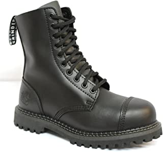Stag CS Black Mens Unisex Safety Steel Toe Cap Military Punk Boots