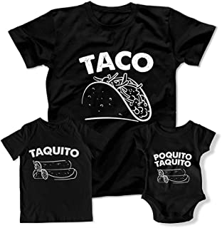 Taco Taquito Matching Outfits Gift for Dad Funny Taco Lover Shirts Fathers Day Family Shirts TEP-997-998-1968