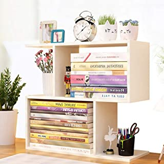 Sling Bookshelf,Desktop Bookshelf, Small Bookshelf Shelf, Desk Student Home Office Desktop Dormitory Multi-layer Storage R...