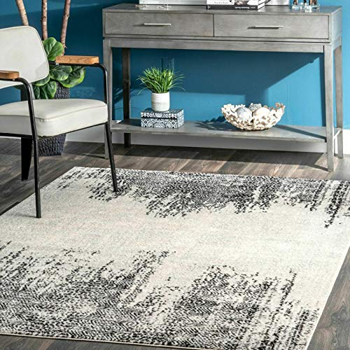 THE RAISE Area Rug, Mat Rug, Chevrons Area Rug in Gray 8' x 10' #2