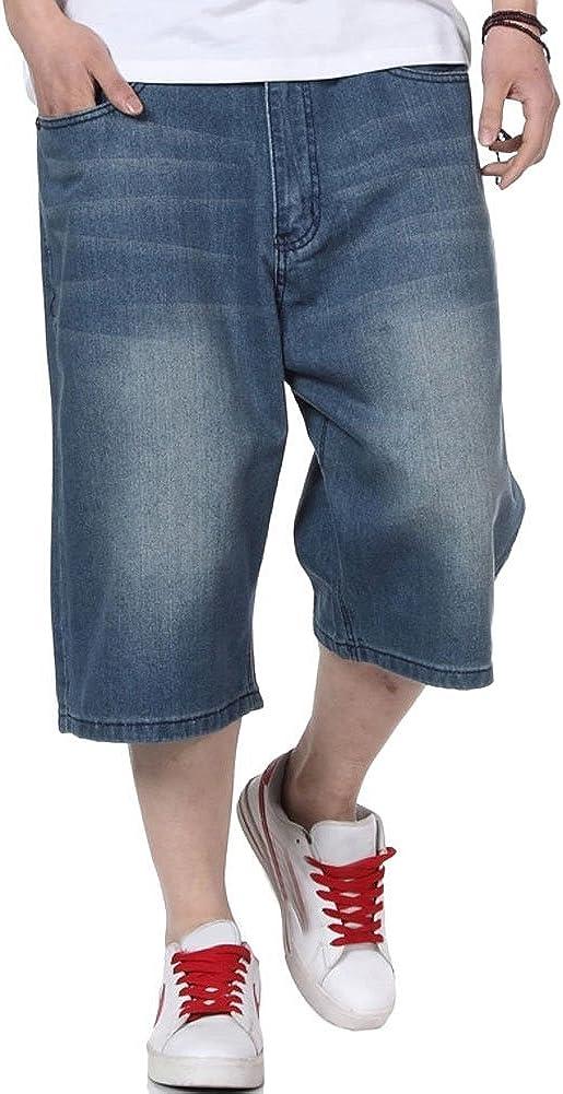 QBO Men's Fashion Hip Hop Jeans Baggy Denim Shorts