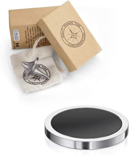 ForeverSpin Stainless Steel Top and Spinning Base Pack - World Famous Spinning Tops