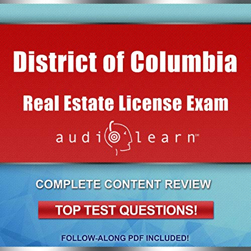 District of Columbia Real Estate License Exam AudioLearn audiobook cover art