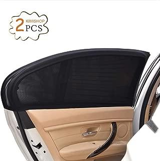Uarter 2Pcs Parasol de Coche Ventana Lateral para Máxima Protección contra Rayos UV y Proteja a Sus Niños y Mascotas (Negro)