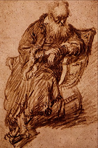 Spiffing Prints Rembrandt Harmenszoon Van Rijn - Old Man Seated in an...