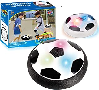 Baeskii Suspended Football Air Power Soccer Disc with Foam Bumpers and LED Lights Kid Toys Ball for Indoor and Outdoo
