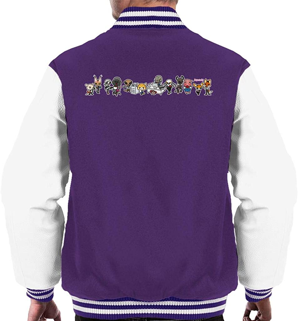 Aggretsuko Characters Side by Popular Varsity Max 75% OFF Montage Men's Jacket