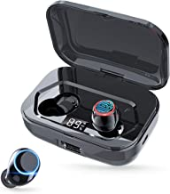 Bluetooth 5.0 Wireless Earbuds, Touch Control Bluetooth Earbuds 3500mAh Charging Case LED Battery Display 120H Playtime HiFi Stereo Deep Bass Waterproof Bluetooth Headsets in-ear Headphones with Mic