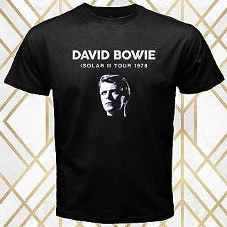 David Bowie Famous Singer Isolar II Tour Logo Men's Black T-Shirt Size S - 3XL