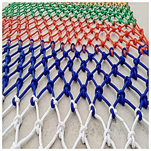 Balcón Protección Contra La Escalera Anti-Fall Net 4mm * 8cm Decoración De Jardín Net NIÑOS NIÑOS DE SEGURIDAD NET Color Red Net Net Kindergarten Fence Net 1MX6M (Tamaño: 4 * 4m (Size:6*8m(20*26ft))