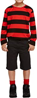 Rimi Hanger Boys Red and Black Striped Menace Jumper Children Long Sleeve Party Wear Top 4-12 Years