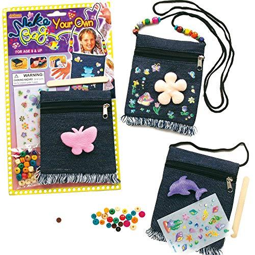 Baker Ross Kits de bolsas vaqueras para colgar del hombro que los niños pueden decorar y personalizar (por 3 kits).