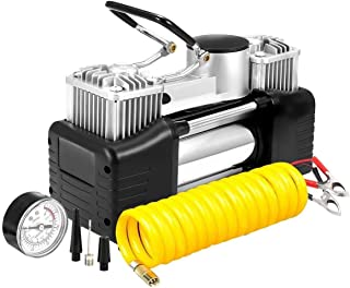 Abhsant Portable Air Compressor Pump, 150PSI Tire Inflator, 12V Heavy Duty Double Cylinders Air Pump for Car, Truck, RV, Bicycle and Other Inflatables