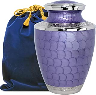 Eternal Peace Beautiful Lavender Adult Cremation Urn for Human Ashes - A Gorgeous Large Urn Dazzling to See and Hold and W...