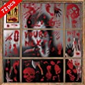 72-Pack Aizesi Halloween Bloody Window Sticker