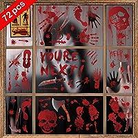 72-Pack Aizesi Halloween Bloody Window Sticker