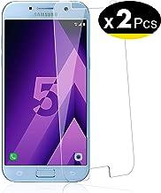 NEW'C Lot de 2, Verre Trempé pour Samsung Galaxy A5 2017 (SM-A520F) Film Protection écran - Anti Rayures - sans Bulles d'air -Ultra Résistant (0,33mm HD Ultra Transparent) Dureté 9H Glass