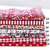 GZSC 14pcs 25 * 25cm Tela de algodón Colorido Paño de Costura Patchwork Surtido pre Corte de Grasas Bundle DIY Material Artesanal Hecho a Mano (Color : Red)
